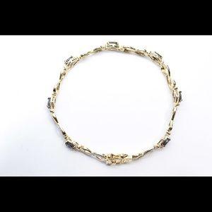 Jewelry - Blue sapphire and diamond bracelet